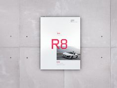Audi R8 Brochure (Concept) #red #automotive #print #audi #type #layout #car #editorial #brochure