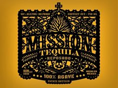 Dribbble - Tequila Label by Jose Canales #lettering #branding #alcohol #mexican #illustration #logo