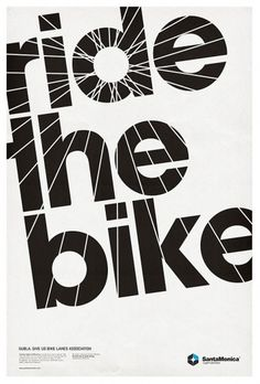 STAR GRID POSTERS '10/11 on the Behance Network #bicycle #type #bike