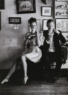 Sara Lindholm #coffee #couple #blackwhite