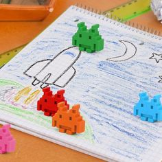 Space Invaders Crayons