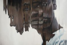 Jens Hesse, woman (African), 2011, oil on corduroy, 95x65 cm #portrait #painting #oil