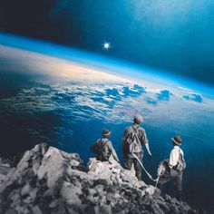 the climb: part I by Edgar Hernandez #earth #collage #universe #climbers #space