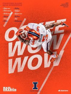 2016 Illinois Football Poster