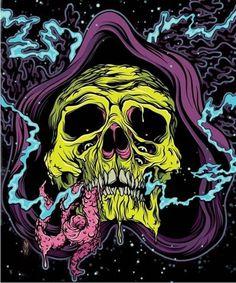 FFFFOUND! | skele_web1.jpg (JPEG Image, 834×1000 pixels) #guts #illustration #reaper #skull