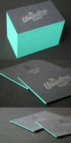 Edge Painted Letterpress | Business Cards Observer #business card #letterpress #stationery