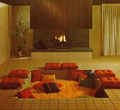 All sizes | Conversation Pit | Flickr - Photo Sharing! #pit #1966 #interiors #company #mosaic #tile