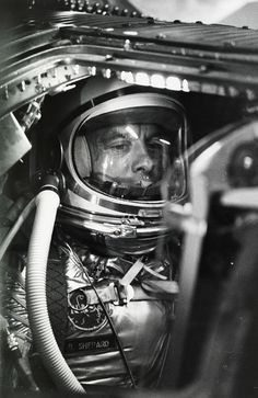 Alan Shepard waits to become the first American in space, Cape Canaveral, 1961.Photograph by NASA #astronaut #nasa #american #nat #vintage #film #alan #geo #shepard