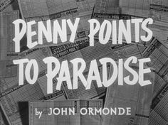 Penny Points To Paradise / Let's Go Crazy Blu-ray #typography #vintage #film #credits #points #paradise #penny