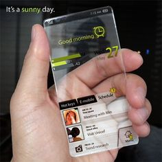 The Window Phone Concept by Seunghan Song » Yanko Design #phone #clear