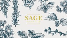 Sage Restaurant and Bar, Makati Shangri-La (Philippines) #branding #typography #design #food #illustration #identity #logo #leaves