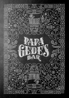 Papa Gede's Bar Sydney Branding and Typography on Behance #lettering