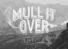 JC e-news #logotype #mull #branding #interviews #logo #over #it #identity #type #typography