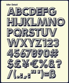 Idler Font Design on the Behance Network