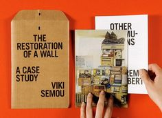 The Restoration of a Wall | Isabelle Vaverka #cover #type #print #flyer