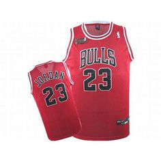 NBA Final Jordan #23 Red Bulls Jersey Black Numbers