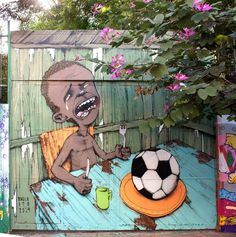 Brazil's Issues With the World Cup in One Painting #painting #brazil #art #street