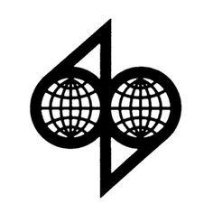 Logo designed by Pierre Dufayet 1960 #mark #globe #trademark #modern #icon #trade #identity #vintage #mid #century #logo