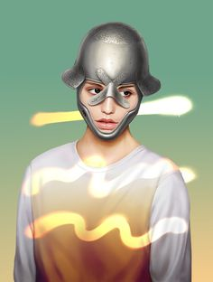 from Helmets series by Vasya Kolotusha #fashion #illustration #portrait