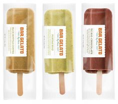 Packaging | Bar Gelato | bumbumbum #labels #packaging #cream #gelato #ice #typography
