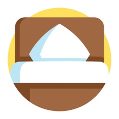 See more icon inspiration related to hotel, furniture and household, bedroom, hostel, comfortable, bed and furniture on Flaticon.