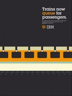 designpiration #train #adv #yellow #ibm #grey