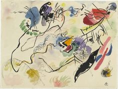MoMA | The Collection | Vasily Kandinsky. Watercolor No. 14 (Aquarell No. 14). (1913) #illustration #drawing #art