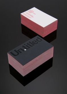 Un.titled ID on the Behance Network #cards #business