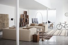 Elora Blue – White Loft | By Flou #inspiration #interior #decor #loft