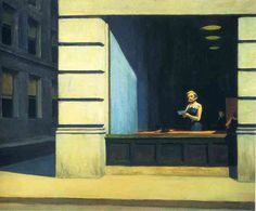 New York Office by Edward Hopper (1962) #art