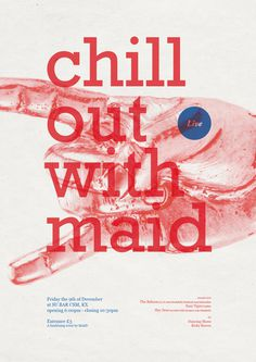 Chill Out with MAID #graphic #poster