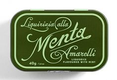 Typography / menta #packaging