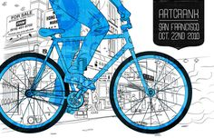 Artcrank SF, by Lifter Baron #inspiration #creative #design #graphic #illustration #bike #blue