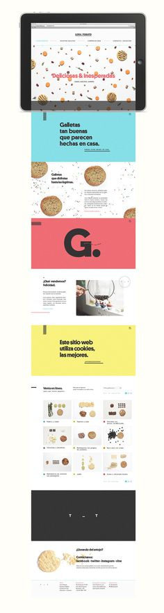 manifiesto futura single page website #branding #food #identity #layout #web