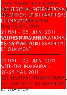 22nd INTERNATIONAL POSTER AND GRAPHIC DESIGN FESTIVAL OF CHAUMONT | Slanted - Typo Weblog und Magazin #type #chaumont #festival #poster