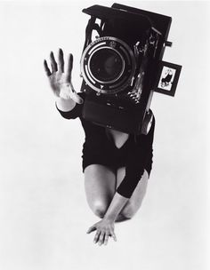 DDAA - work_hershman_leeson #juxtaposition #white #woman #camera #black #photography #and