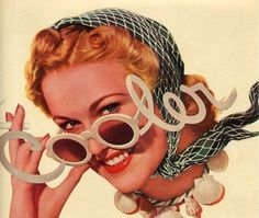 vintage 1940 pin-up advertisement cool sunglasses #1940s #cooler #sunglasses #retro #advertising #pin #up #vintage #cool