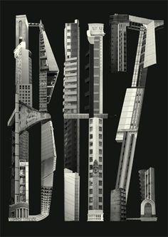 45 jujubas #acaiaca #belo #letter #building #horizonte #bhz #type #collage #typography