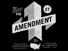 Dribbble - 1st Amendment by Matthew Genitempo #typography