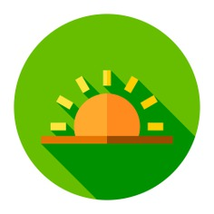 See more icon inspiration related to sun, morning, dawn, sunrise, weather and nature on Flaticon.