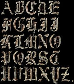 Bacon Alphabet | CMYBacon #gothic #alphabet #type #bacon #typography
