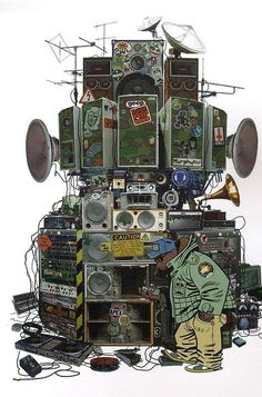 A snail's life : Photo #speakers #gorillaz