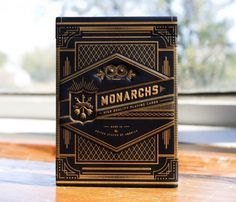 Monarchs casino playing cards packaging #packaging #illustration #design #typography