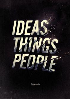 IDEAS THINGS PEOPLE