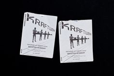Kraftwerk ephemera #white #design #graphic #illustration #package #typography