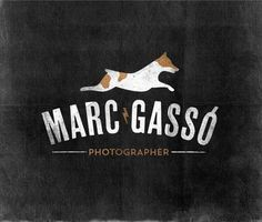 Logo Marc Gassó by Noè Fanlo #logo #jackrussell #photographer #dog