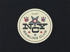 Dribbble - NYC Bowling Club ... by Arno Kathollnig #badge #bowling #logo #vintage #type