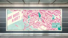 outdoor #outdoor #billboard #illustration #advertising #drawing #lisbon #maps #art direction