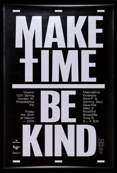 David Rudnick — Making Time #rudnick #poster #typography