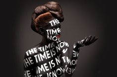 Aizone FW11 Campaign on the Behance Network #bodypaint #typography
